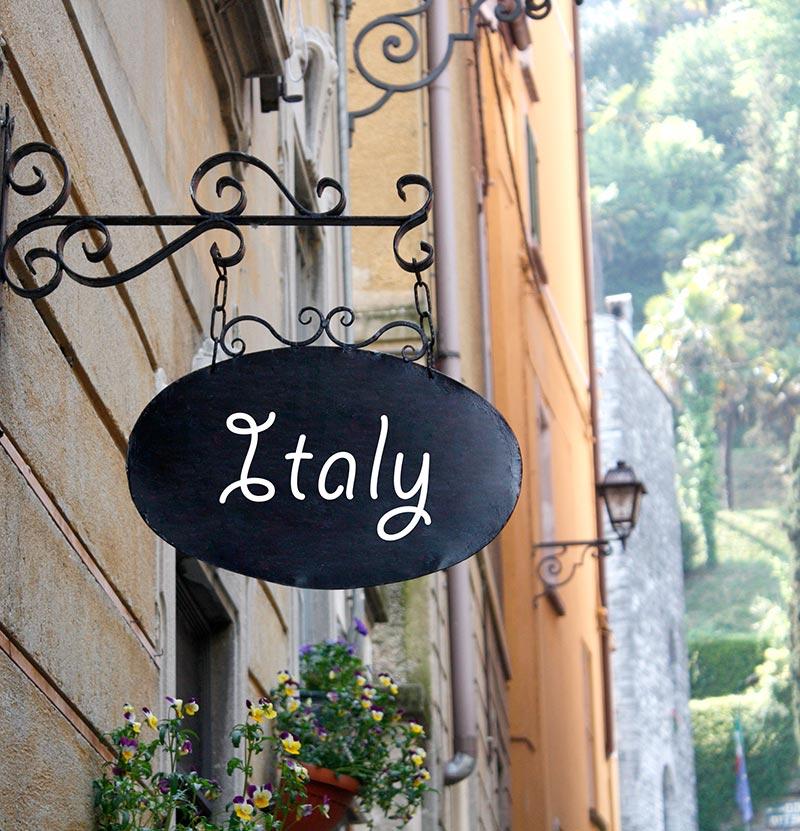 Картинка с надписями италия, поздравление юбилей