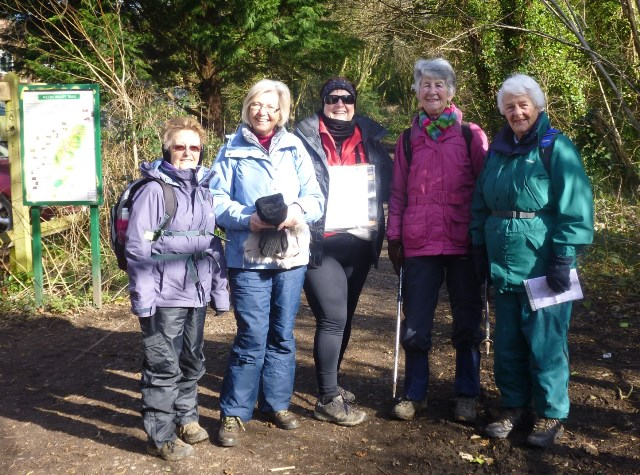 Gill sponsored walk with SI Winchester Soroptimists